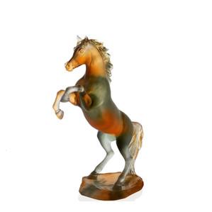 """Статуэтка """"Лошадь - янтарный, серый"""" 37см"""