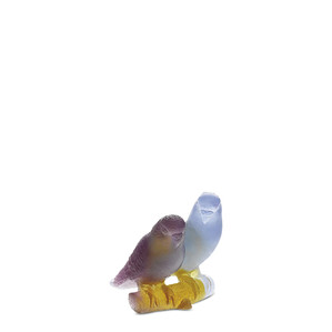 """Статуэтка """"Попугайчики - фиолетовый, синий, желтый"""" 10см"""