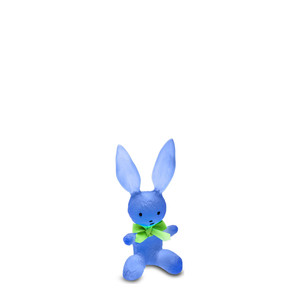 """Статуэтка """"Кролик - синий"""" 13см"""