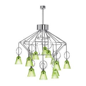 "Люстра на 15 ламп ""Шартрёз-зеленый"" 88 x 88,6см"