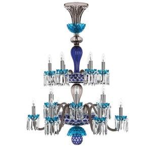 """Люстра на 18 свечей """"Фланель-серый, Лазурный, Темно-синий"""" 110 x 80см"""
