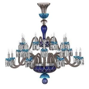 """Люстра на 24 свечей """"Фланель-серый, Лазурный, Темно-синий"""" 130 x 120см"""