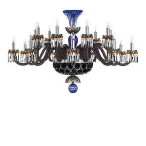 """Люстра на 18 свечей """"Фланель-серый, Темно-синий, Черный"""" 105 x 80см"""