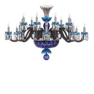 """Люстра на 18 свечей """"Фланель-серый, Лазурный, Темно-синий"""" 105 x 80см"""