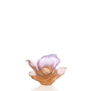 """Статуэтка """"Цветок - янтарный, розовый"""" 9,8см"""