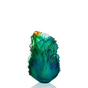 """Ваза """"Золотой, янтарный, синий, зеленый"""" 19см"""