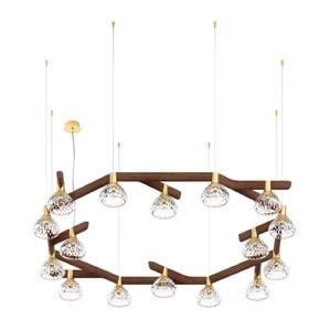 Подвесная лампа на 16 ламп 14,5 x 143см