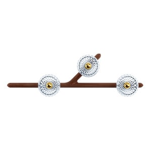 Бра, настенный светильник на 3 ламп (Левый) 14,5 x 96см
