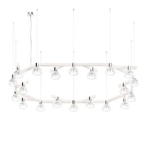 Подвесная лампа на 20 ламп 14,5 x 196см