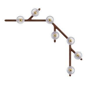 Бра, настенный светильник на 7 ламп 14,5 x 143см