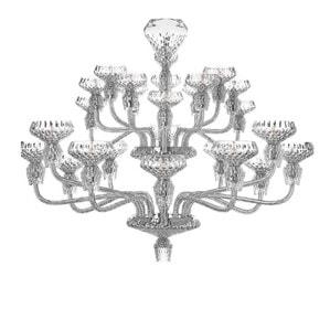 """Люстра на 24 свечей """"Хромированная"""" 110 x 135см"""
