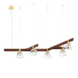 Подвесная лампа на 5 ламп 14,5 x 130см