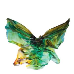 "Статуэтка ""Бабочка Солифлор - зеленый, янтарный"" 46см"