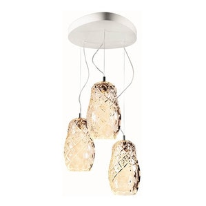 """Подвесная лампа на 3 ламп """"Прозрачный"""" 70-200 x 53см"""