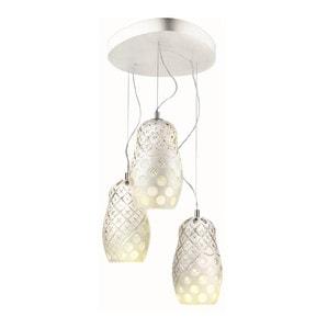 """Подвесная лампа на 3 ламп """"Белая эмаль"""" 70-200 x 53см"""
