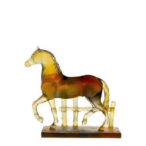 "Статуэтка ""Лошадь - янтарный, желтый"" 23,5см"