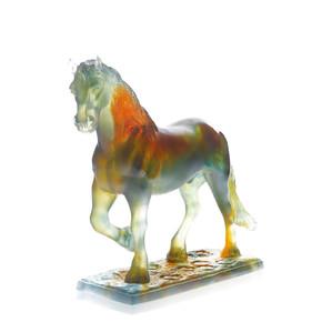 """Статуэтка """"Лошадь Адриан - янтарный, желтый"""" 39см"""