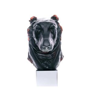 """Статуэтка """"Голова собаки Грейхаунд - черный"""" 35,5см"""