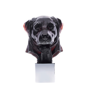 """Статуэтка """"Голова собаки Лабрадор - черный"""" 33см"""
