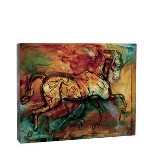 """Статуэтка """"Лошадь, Калипсо - янтарный, синий, желтый, красный, зеленый"""" 32см"""