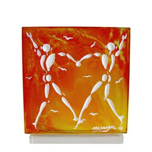 """Статуэтка """"Танец любви - белый, оранжевый"""" 32см"""