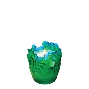 """Настольный подсвечник """"Зеленый, синий"""" 13,5см"""