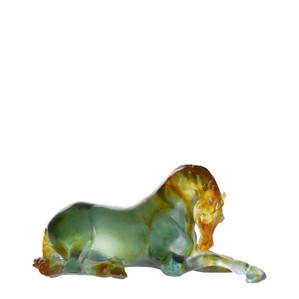 """Статуэтка """"Кобыла - зеленый, янтарный"""" 31,5см"""