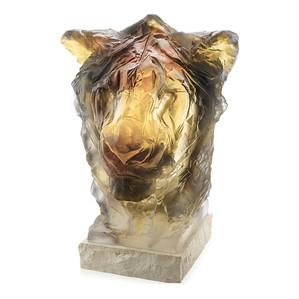 """Статуэтка """"Голова льва - серый, золотистый"""" 52см"""