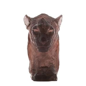 """Статуэтка """"Голова пантеры - коричневый"""" 36см"""