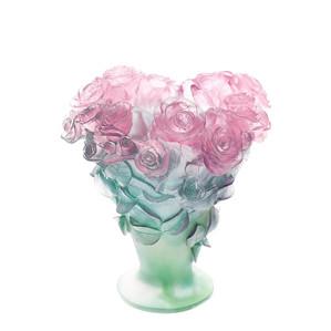 """Ваза """"Зеленый, розовый"""" 30см"""