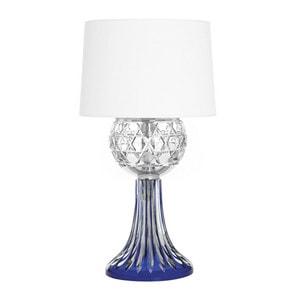 "Настольная лампа ""Хромированная, Темно-синий хрусталь"" 57 x 35см"