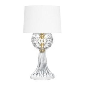"Настольная лампа ""Позолоченная, Прозрачный хрусталь"" 57 x 35см"