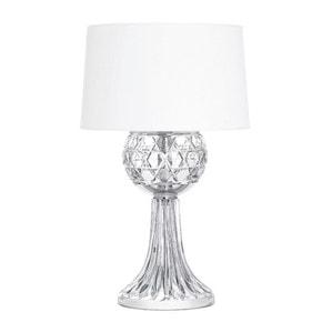 """Настольная лампа """"Прозрачный хрусталь, Хромированная"""" 57 x 35см"""