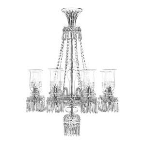 """Люстра на 8 свечей (Длинный) """"Платин"""" 110 x 85см"""