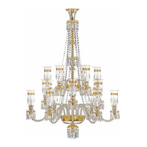 Люстра на 18 свечей (Золотая гравюра) 155 x 115см