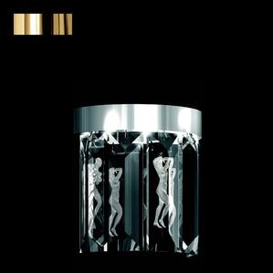 """Бра, настенный светильник (5 Призмы - круглый) """"Позолоченный"""" 22x12x34см"""