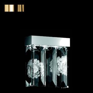 """Бра, настенный светильник (5 Призмы - прямоугольный) """"Позолоченный"""" 22x12x34см"""