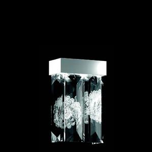 """Бра, настенный светильник (4 Призмы) """"Никелированный"""" 22x12x34см"""