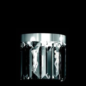 """Бра, настенный светильник (6 Призмы - круглый) """"Никелированный"""" 22x12x34см"""