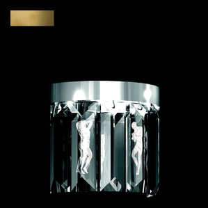 """Бра, настенный светильник (6 Призмы - круглый) """"Бронзовый"""" 22x12x34см"""
