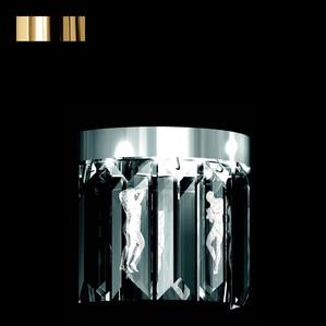 """Бра, настенный светильник (6 Призмы - круглый) """"Позолоченный"""" 22x12x34см"""
