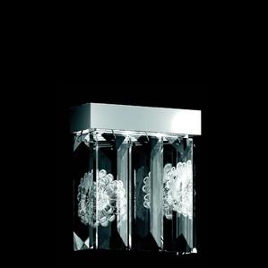 """Бра, настенный светильник (5 Призмы - прямоугольный) """"Никелированный"""" 22x12x34см"""