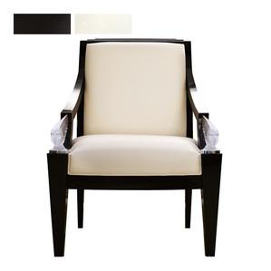 """Кресло """"Черный лак, синель слоновая кость"""" 73x78x101см"""