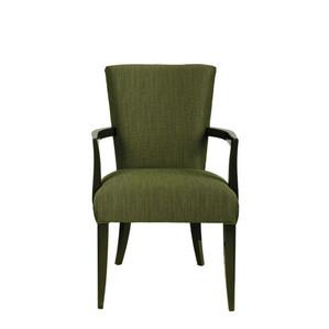"""Стул с подлокотниками """"Зелёный лак, зелёная ткань"""" 62x64x98см"""