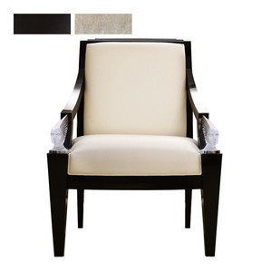 """Кресло """"Черный лак, бархат кремовый"""" 73x78x101см"""