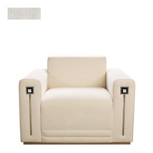 """Кресло """"Синель слоновая кость"""" 104x94x80см"""