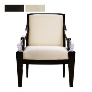 """Кресло """"Черный лак, кожа слоновая кость"""" 73x78x101см"""