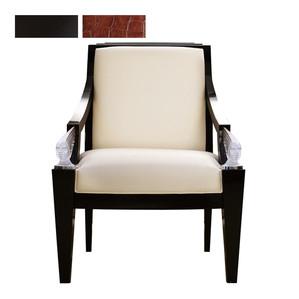"""Кресла """"Черный лак, шоколадная кожа"""" 73x78x101см"""