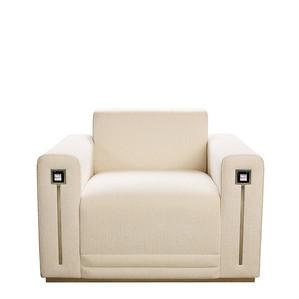 """Кресло """"Шелк, слоновая кость"""" 104x94x80см"""