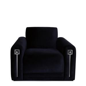"""Кресло """"Шелк черный"""" 104x94x80см"""